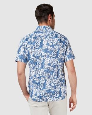 Blazer Logan Short Sleeve Print Shirt - Shirts & Polos (Blue Multi)