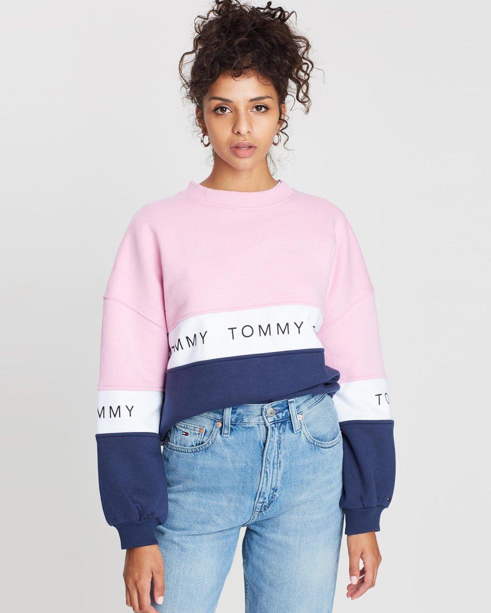 14ecb6b10e Colour-Block Sweatshirt by Tommy Jeans Online