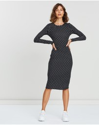 Atmos&Here - Pia Polka Dot Jersey Dress