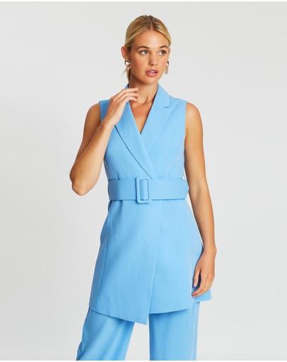 Mossman Make A Move Mini Dress Blue