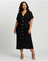 Atmos&Here Curvy - Clara Button Midi Dress