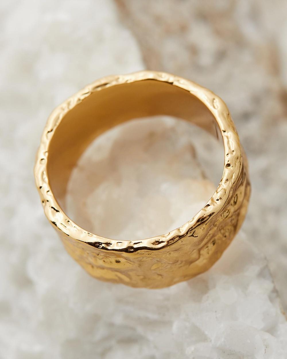 Amber Sceats Lynx Ring Jewellery Gold