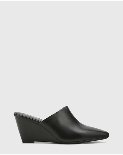 Wittner - Polina Leather Snib Toe Wedge Mules