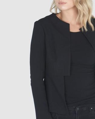 Privilege Peplum Back Jacket - Blazers (Black)
