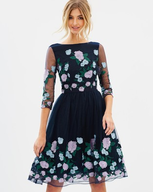 Chi Chi London – Claire Dress Navy