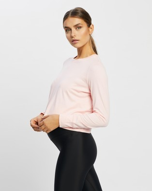 Cotton On Body Active Maternity Cross Back Long Sleeve Top - T-Shirts & Singlets (Fairy Tale Pink)