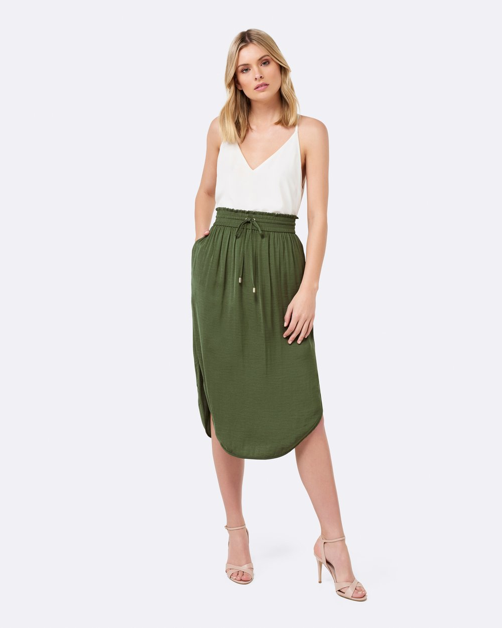 de715510c8 Cara Ruched Waist Midi Skirt by Forever New Online | THE ICONIC | Australia
