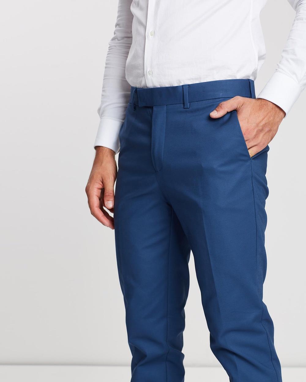 3 Wise Men Huxton Dress Pants Blue