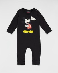 Rock Your Baby - ICONIC EXCLUSIVE - Hello Mickey LS Playsuit - Babies