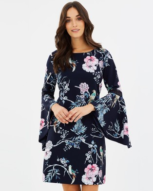 Review – Where The Wind Blows Dress Navy & Multi