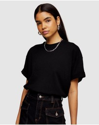 TOPSHOP - Boxy Roll Tee