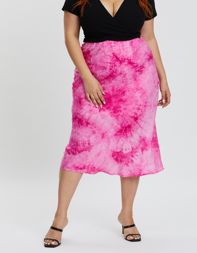 Mika Muse - Indy Tie Dye Midi Skirt
