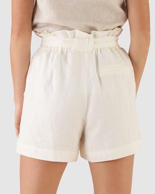 Amelius Sahara Linen Shorts White