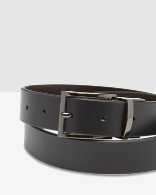 Oxford - Carson Leather Reversible Belt - Belts (Black/Brown) Carson Leather Reversible Belt