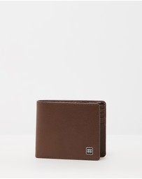 CERRUTI 1881 - Box Logo Pebbled Leather Bifold Wallet - One Size