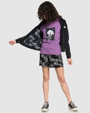 Quiksilver Quiksilver Womens Herringbone Elasticated Short - Shorts (BLACK COSMIC RIP)