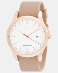 JDRT - Rose Gold White / Camel Silicone