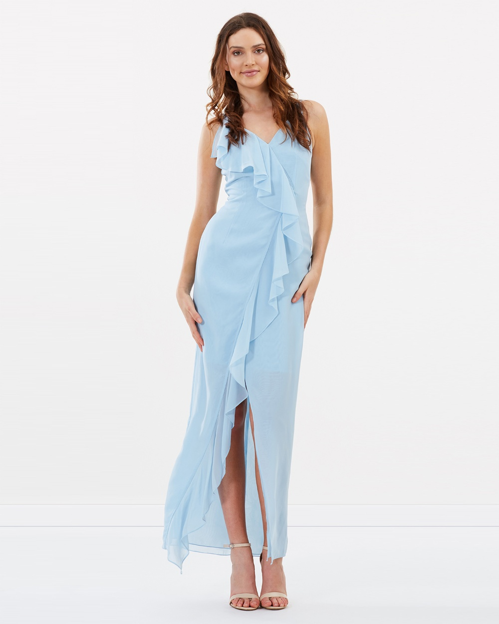 Alabaster The Label Powder Blue Willow Dress