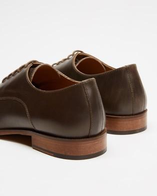 Double Oak Mills Nicholas Leather Derby - Dress Shoes (Grey Brown)