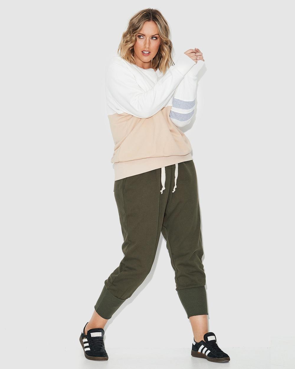 17 Sundays Seamed Harem Pants Full Length Green