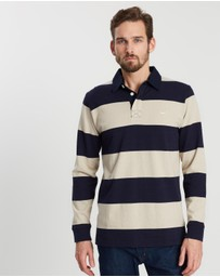 R.M. Williams - Tweedale Block Stripe Rugby Polo