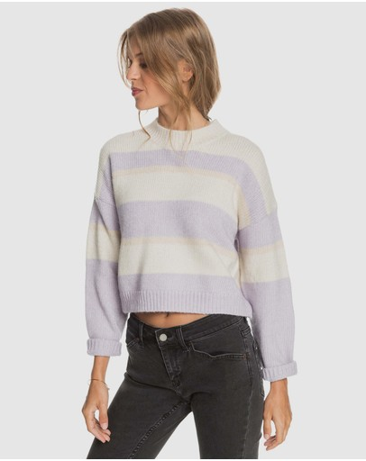Roxy - Womens Blurred Memories Cropped Jumper