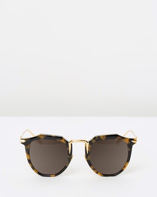 Valley Chateau - Sunglasses (Yellow Tort with Gold Titanium)