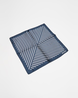 BOSS Rolled Pocket Square - Pocket Squares (Open Blue)