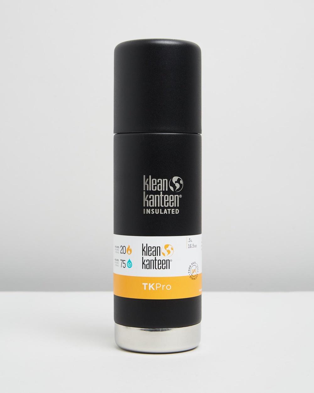 Klean Kanteen TKPro Insulated 500ml Bottle Water Bottles Shale Black
