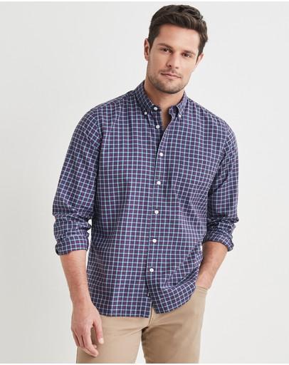 Blazer Byron Long Sleeve Check Shirt Red Multi