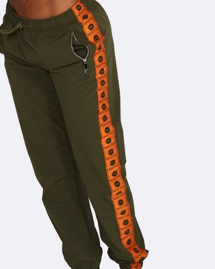 Nicky Kay Logo Track Pants - Sweatpants (Khaki)