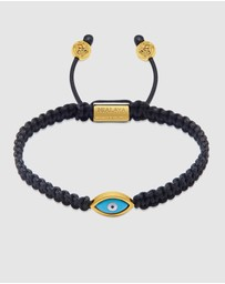 Nialaya Jewellery - Men's String Bracelet With Evil Eye