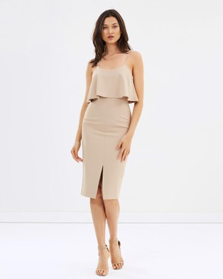 Grace Willow – Tash Frill Dress Beige
