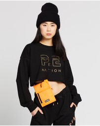 P.E Nation - Heads Up Metallic Cropped Sweat