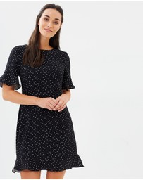 Oasis - Polka Dot Ruffle Dress