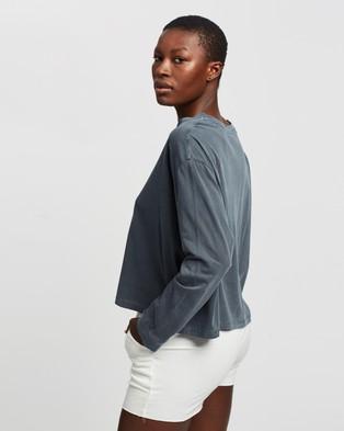 Bonds - Light Weight Long Sleeve Boxy Tee - Long Sleeve T-Shirts (Deep Night) Light Weight Long Sleeve Boxy Tee