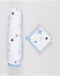 Aden & Anais - Muslin Backed Hooded Towel Set