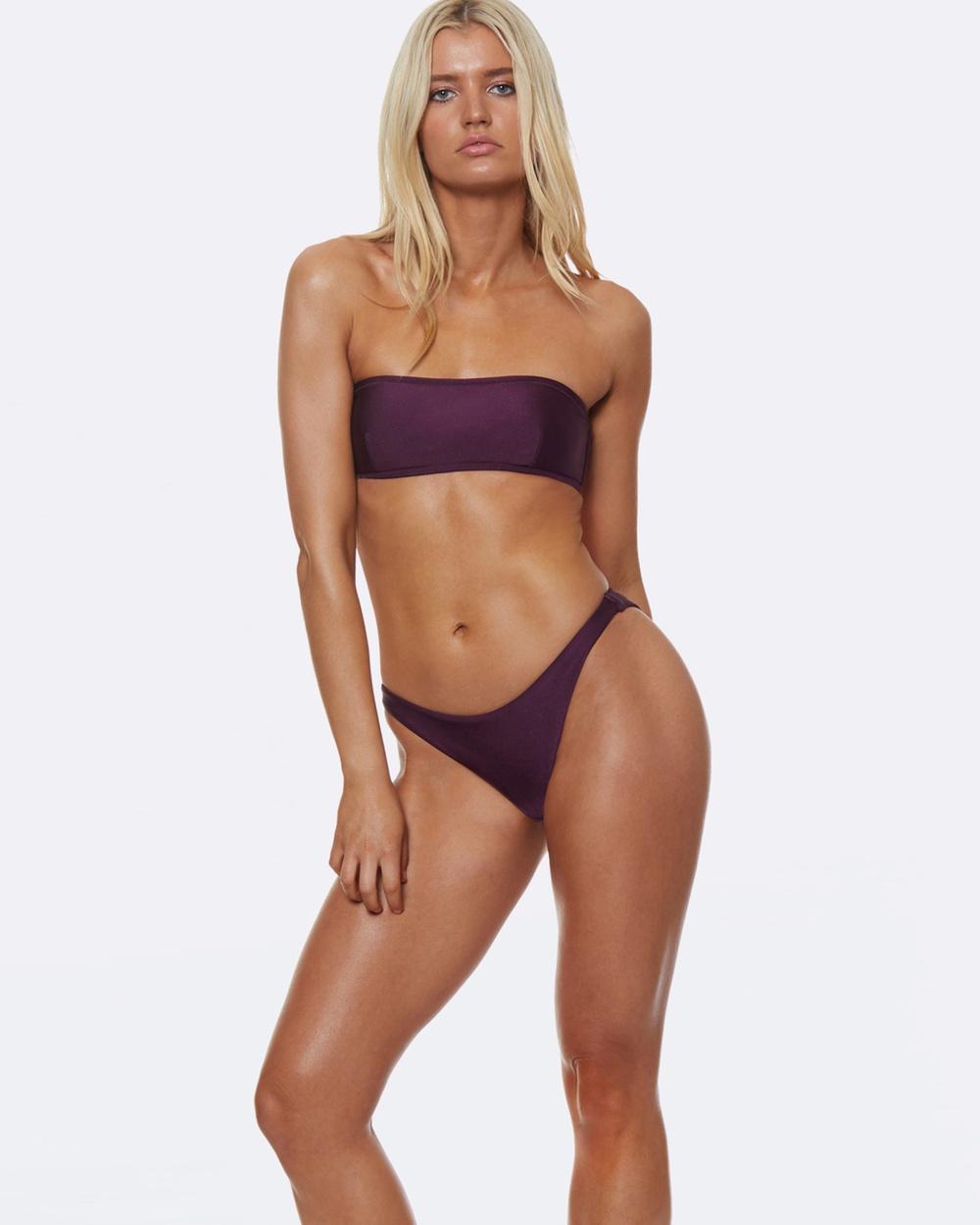 L'urv She Shimmers Bikini Bottoms Bikini Bottoms Purple She Shimmers Bikini Bottoms