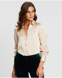 Dorothy Perkins - Metallic Button-Through Shirt