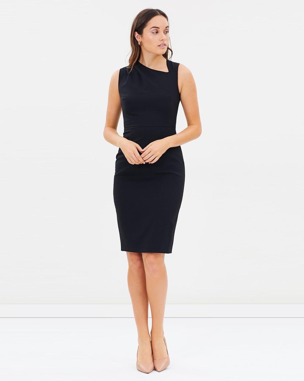 Dorothy Perkins Pleat Sleeveless Dress Dresses Black Pleat Sleeveless Dress