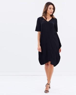 Faye Black Label – Side Drape Dress Black