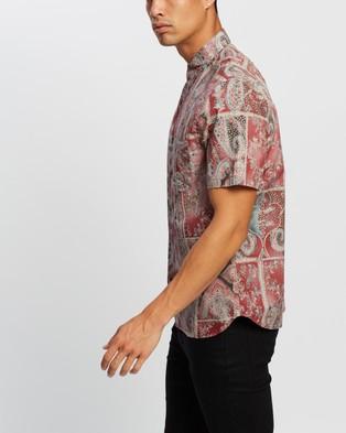 Neuw Waits SS Shirt - Casual shirts (Burnt Red Paisley)