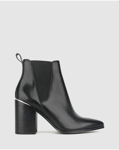 Betts - Knox Block Heel Leather Ankle Boots