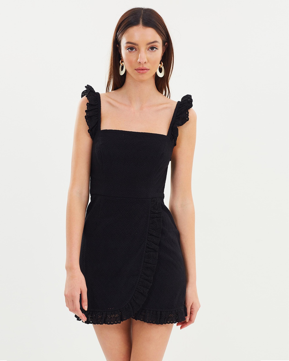 Shona Joy Fitted Mini Dress Bodycon Dresses Black Fitted Mini Dress