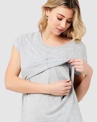 Ripe Maternity Richie Nursing Tee - T-Shirts & Singlets (Grey Marle)