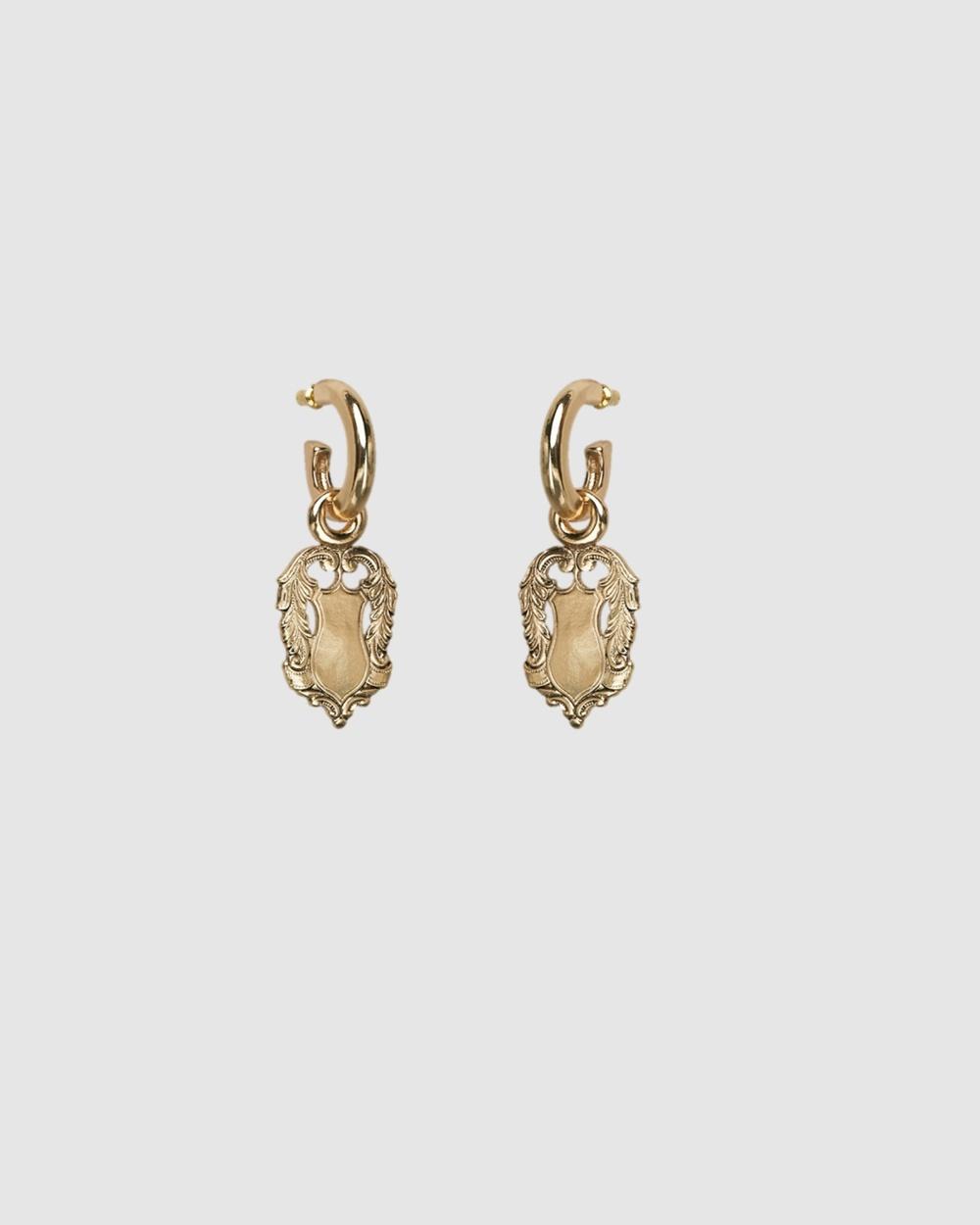 Kitte Amulet Earrings Jewellery Gold