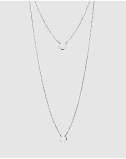 Elli Jewelry Necklace Layering Circles Geo In 925 Sterling Silver
