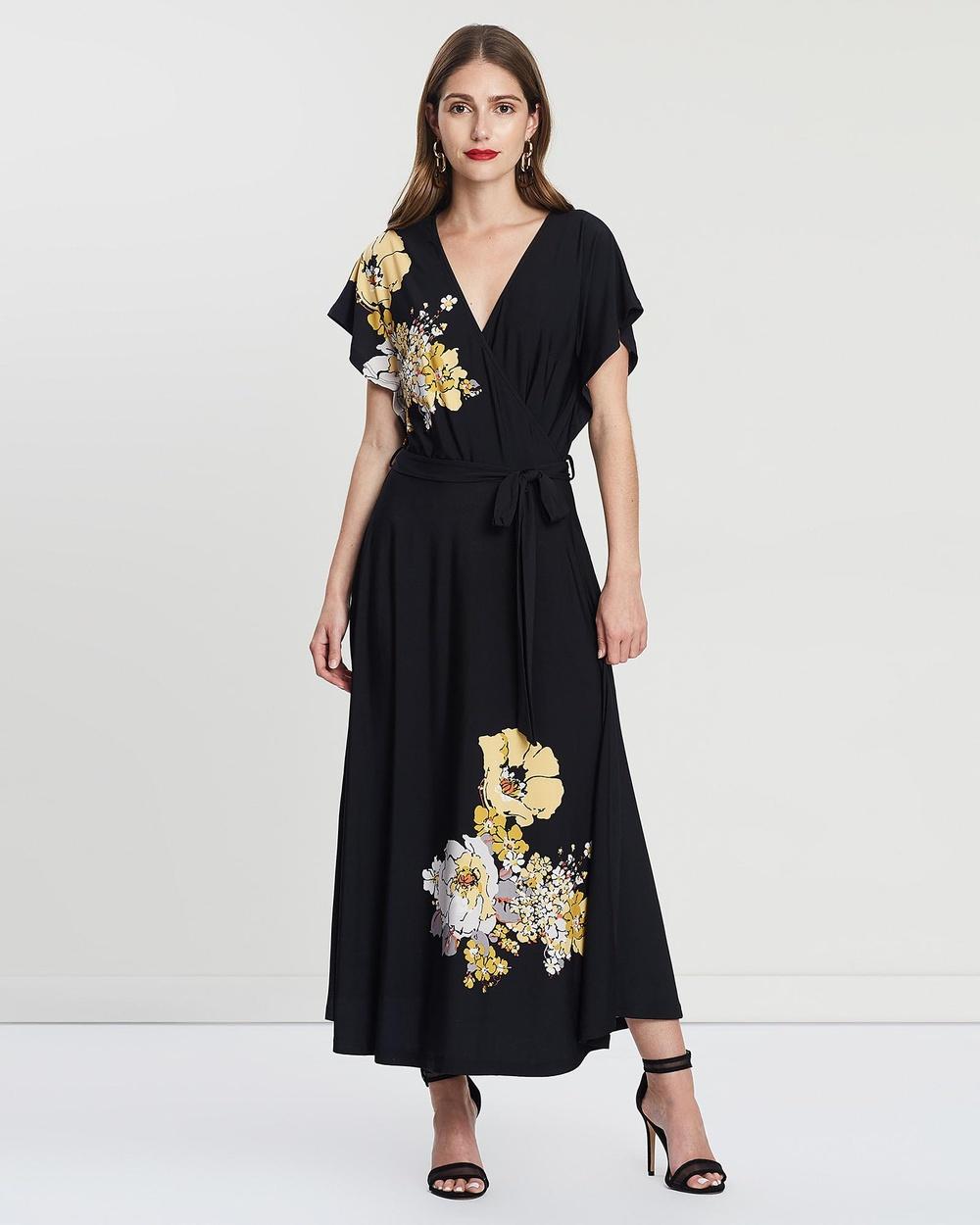 Leona Edmiston Poppy Blooms Gabbie Cocktail Dress