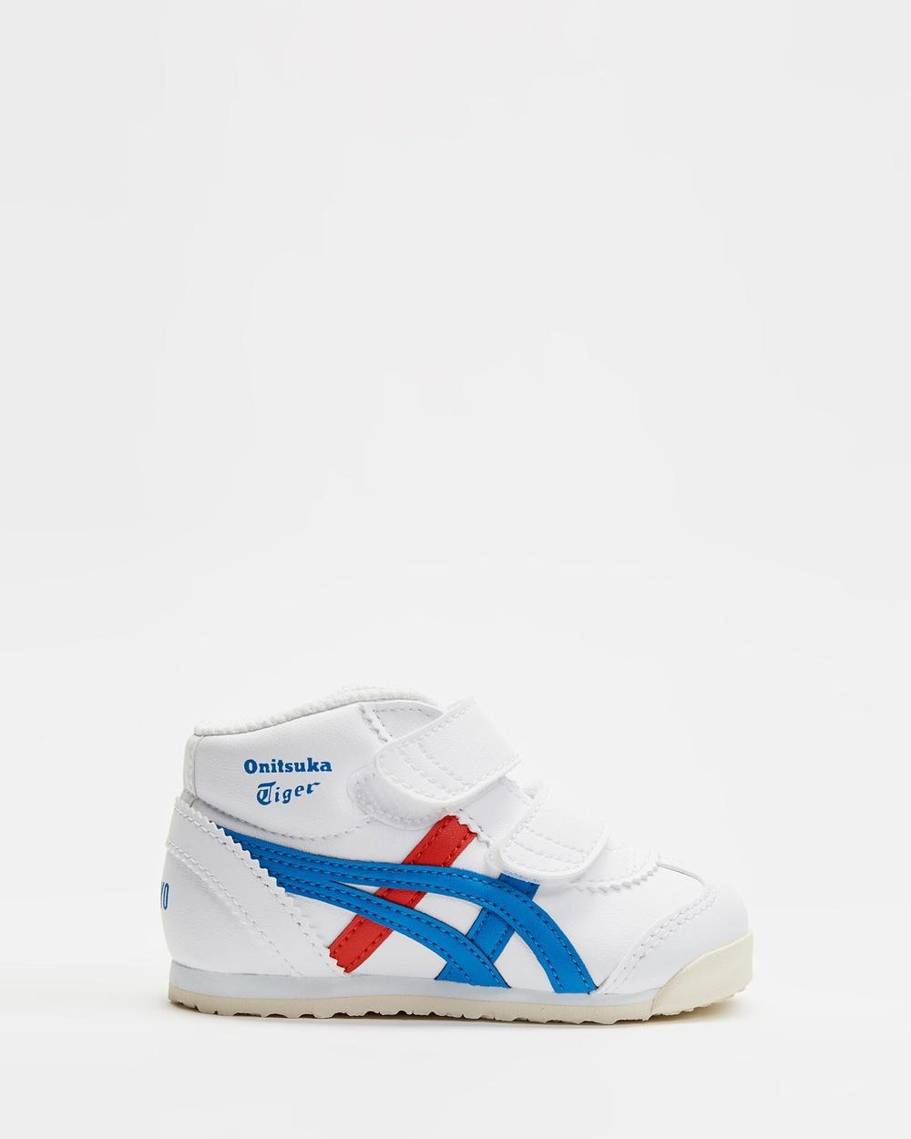 Onitsuka Tiger Mexico Mid Runner TS Kid's Sneakers White / Directoire Blue Mid-Runner Australia