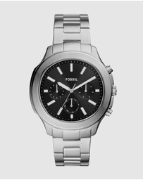 Fossil - Windfield Silver-Tone Analogue Watch